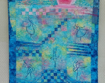 The Swan Lake Art Quilt