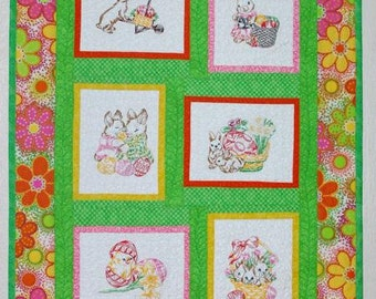 Easter Bunny Lap Quilt or Wall Hanging