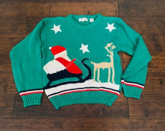 Items Similar To Vintage Womens Ugly Christmas Sweatertwas The