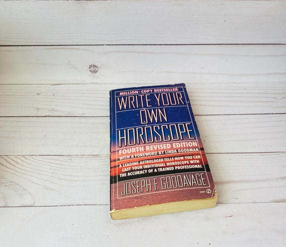 Vintage 1990 Write Your Own Horoscope by Joseph Gooddavage--Astrology Books