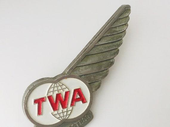Vintage TWA Junior Hostess Pin