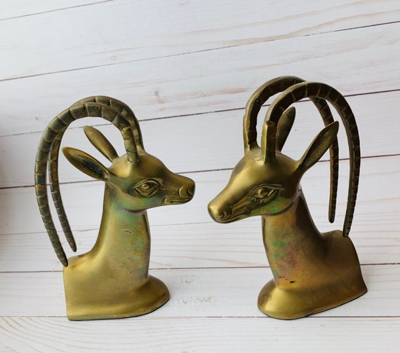 MCM Brass Animal Bookends