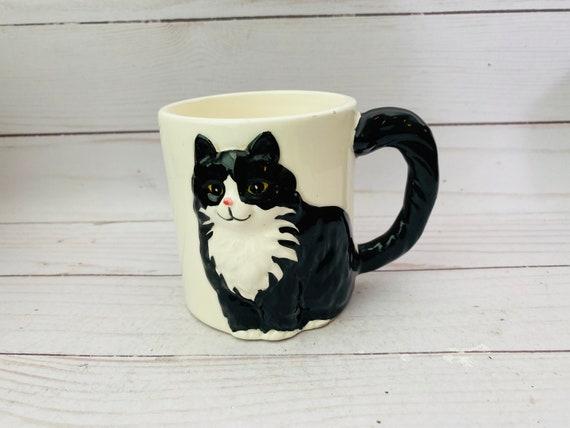 Vintage Otagiri Cat Mug-- Cindy Sugawara Mug--Cat Mug