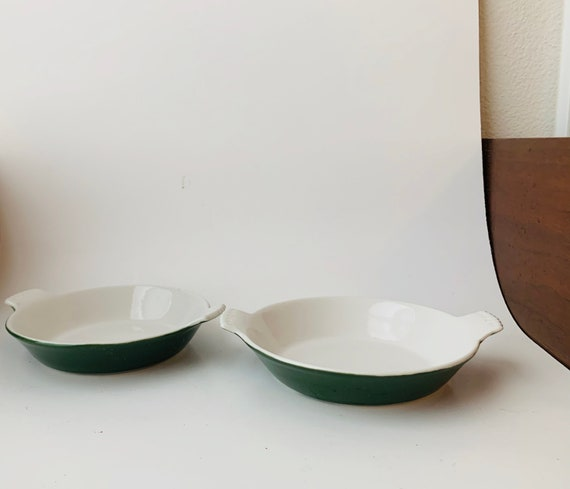 Vintage Coors Thermo Porcelain Gratin Dishes