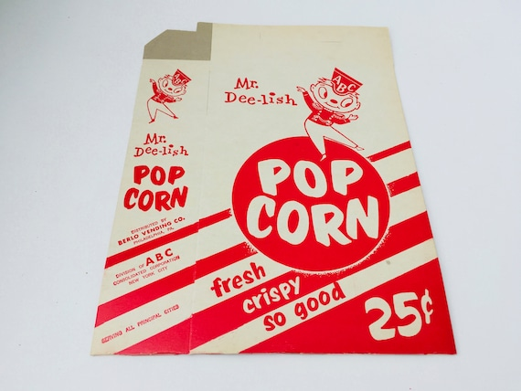 Vintage ABC Mr. Dee-lish Pop Corn Box