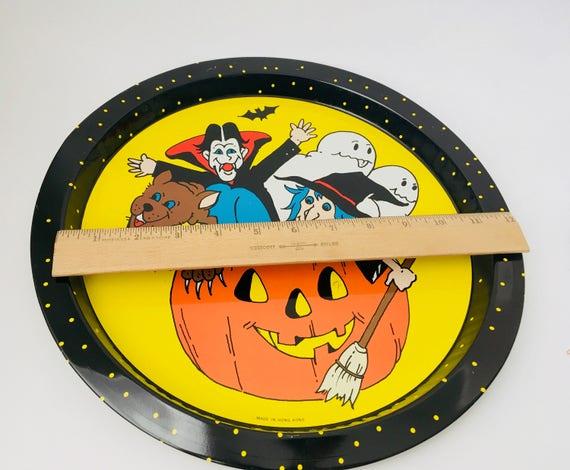 Vintage Halloween Tin Serving Tray