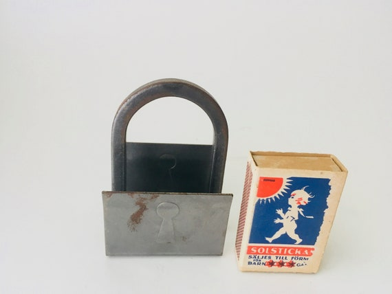 Vintage Metal Matchbox Holder - Made In Sweden