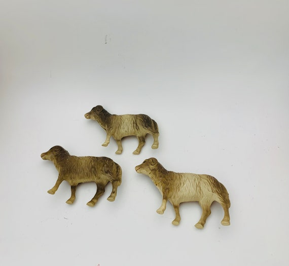 Celluloid Rams- Vintage Toys