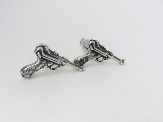 Gun Cufflinks - Vintage Swank