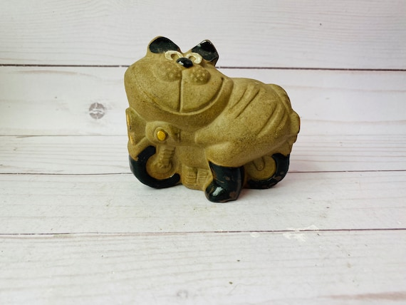 Vintage Brass Kitty Cat Paperweight/Figurine/Brass Animal/Mini Brass Cat/Miniature Cat/Cat Gift