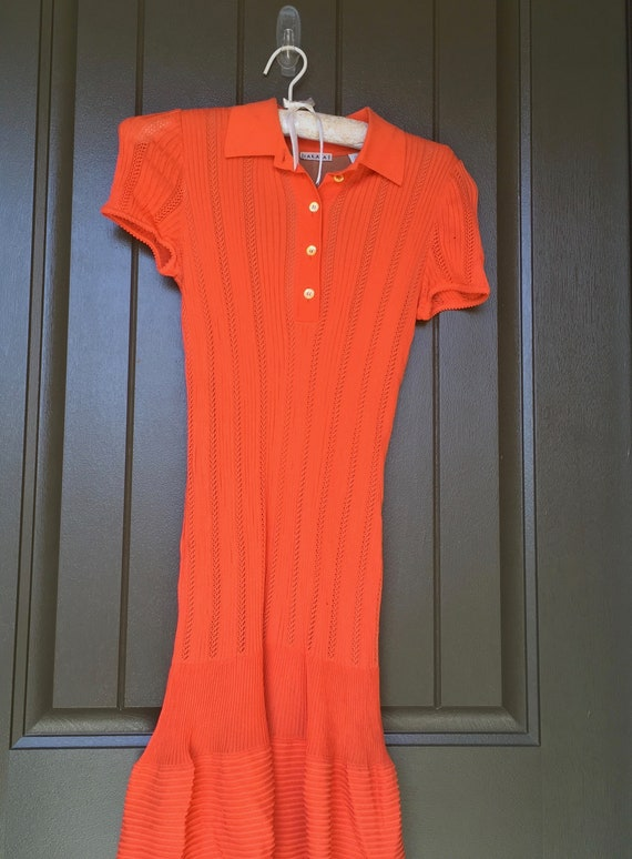 Vintage Alaia Paris Made In Italy Vertical Knit Dress Size M