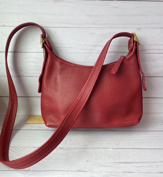 Coach Leather Bag--Coach Burgundy Red Leather Shoulder Bag