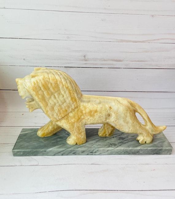 Marble Lion Statue--Stone Lion Sculpture--Marble Sculpture