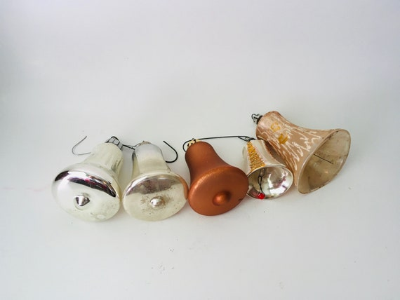 Ornaments - Lot of 5 Glass Bell Shaped