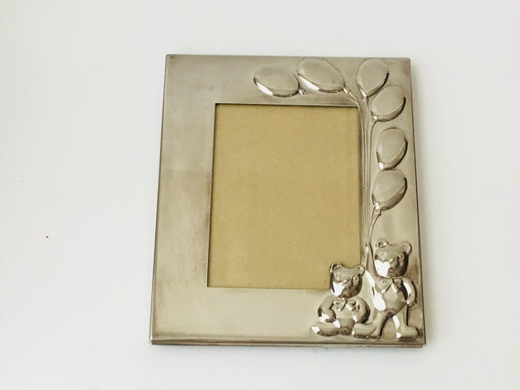 Godinger Silver Art Co. Teddy Bear Baby Photo Frame