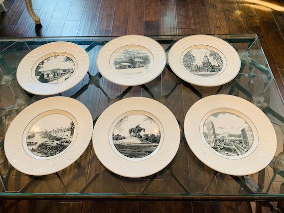 Set of 6 Spode's Mansard Copeland England Plates