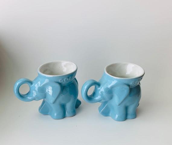 Vintage 1982 Frankoma GOP Elephant Mug