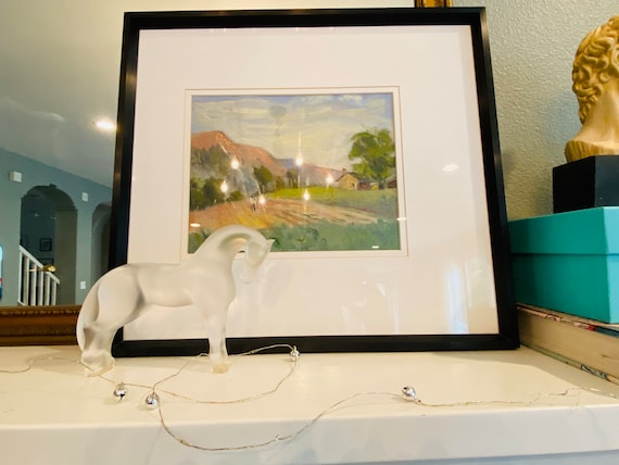 Lalique Siglavy Horse Made in France--Art Glass