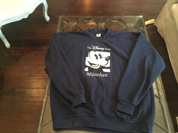 90s Disney Store Extra-Large Disney Munchen Sweatshirt