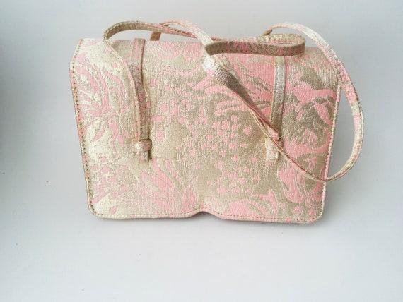 Vintage Pink & Gold Brocade Jill Stuart Handbag