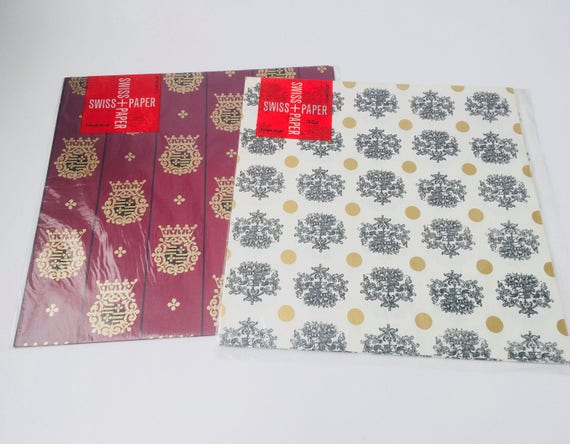 Set of 2 Swiss Paper Gift Wrap Packages
