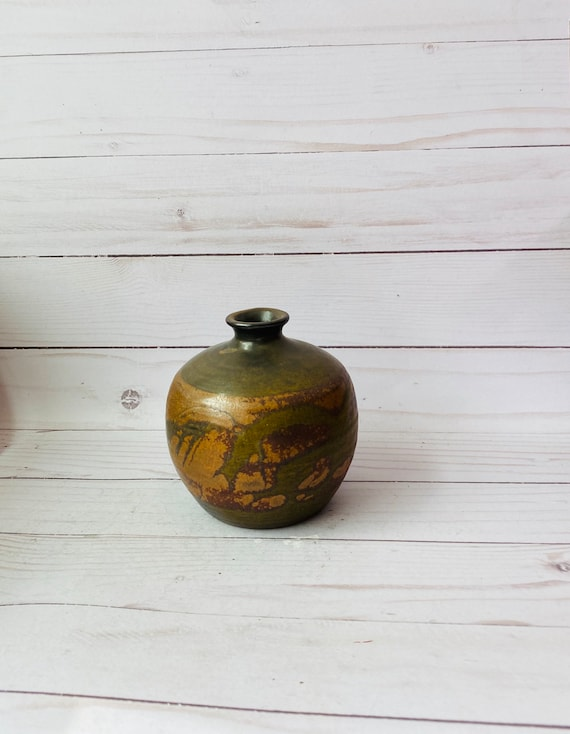 SDW Stoneware Designs West Pottery Vase--MCM Pottery--California Pottery