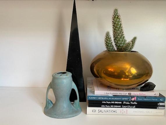 Vintage Art Pottery Flower Frog Bud Vase