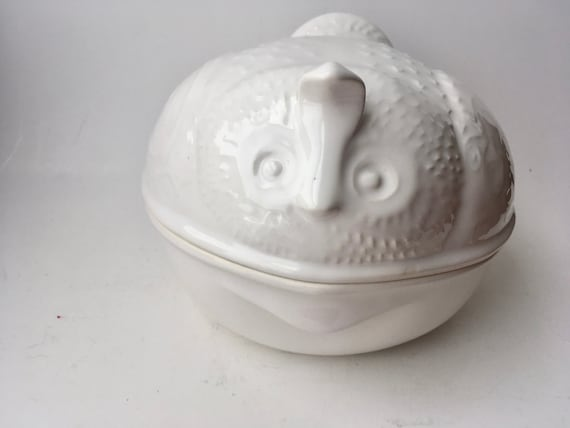 MCM Environmental Ceramics White Quail Dish
