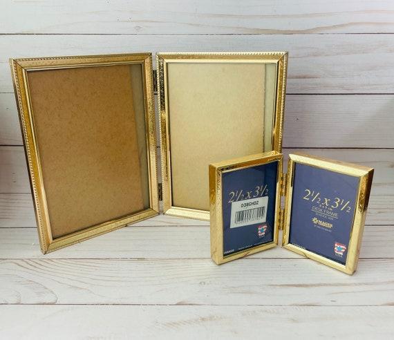 Set of 2 Vintage Brass Frames--Double Frame