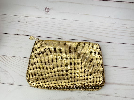 Whiting & Davis Gold Mesh Pouch--Gold Mesh Pouch--Gold Evening Bag