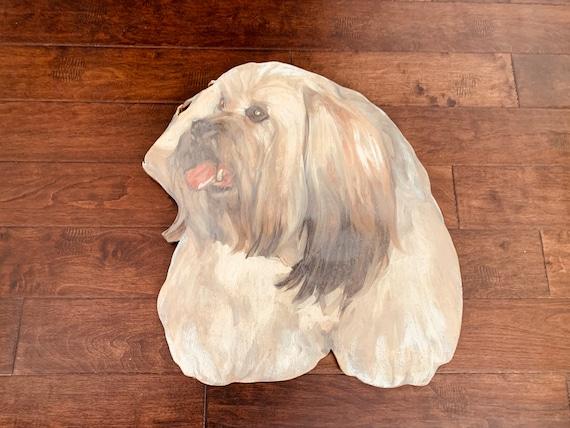 Vintage Hand-painted Dog Portrait