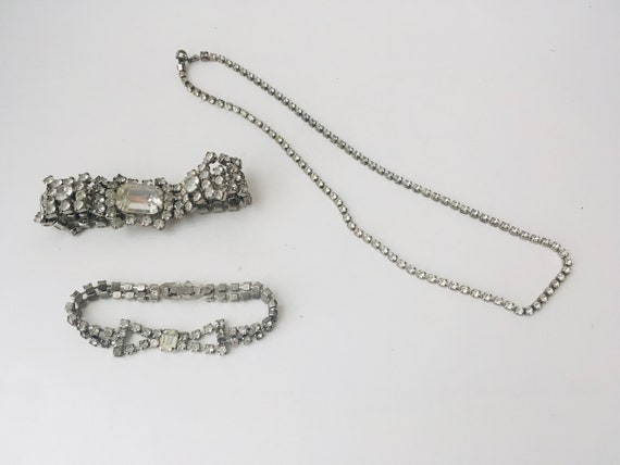 Vintage Rhinestone Jewelry Lot of Various Pieces