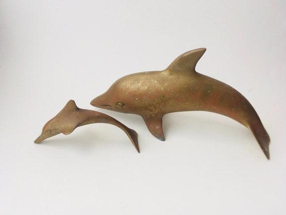 Vintage Brass Dolphins