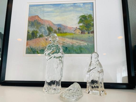Glass Nativity Set-- GH Clear Glass Nativity Set
