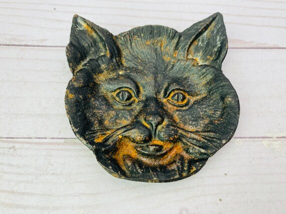 Cat Shaped Ceramic Jewelry Dish/Ceramic Jewelry Holder/Cat Dish/Ceramic Catchall/Cat Shaped Dish/Ceramic Animal