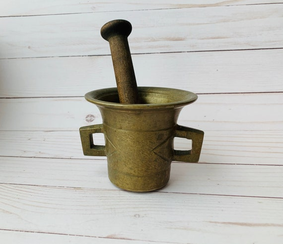 Vintage Brass Mortar & Pestle