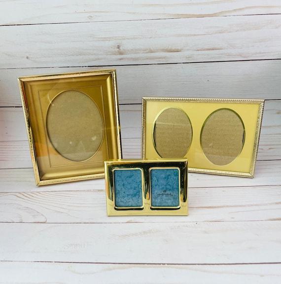 Set of 3 Vintage Brass Frames