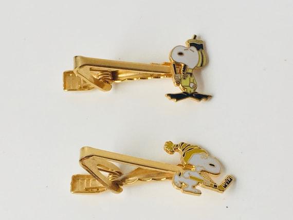 Vintage Aviva Snoopy Tie Clips
