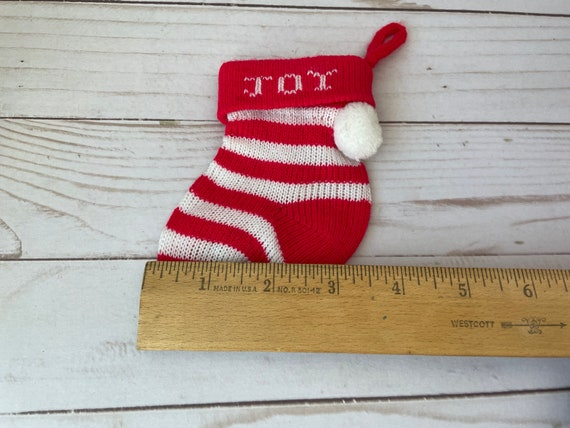Vintage Baby Christmas Stocking--Mini Christmas Stocking--Baby's First Stocking