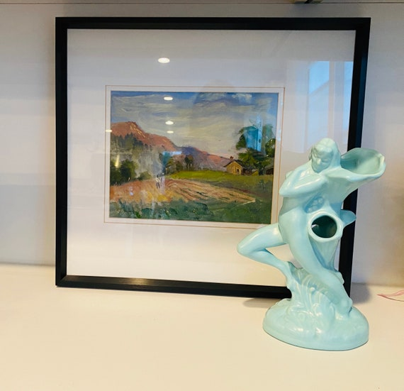 Poppy Trail Nude Lady Vase--Vintage California Pottery--Figural Lady Vase