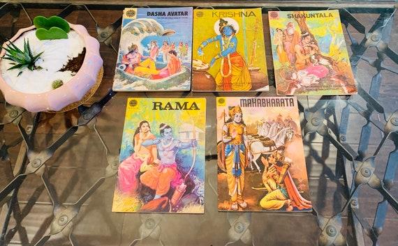 1970s Amar Chitra Katha Books- Dasha Avatar-Krishna