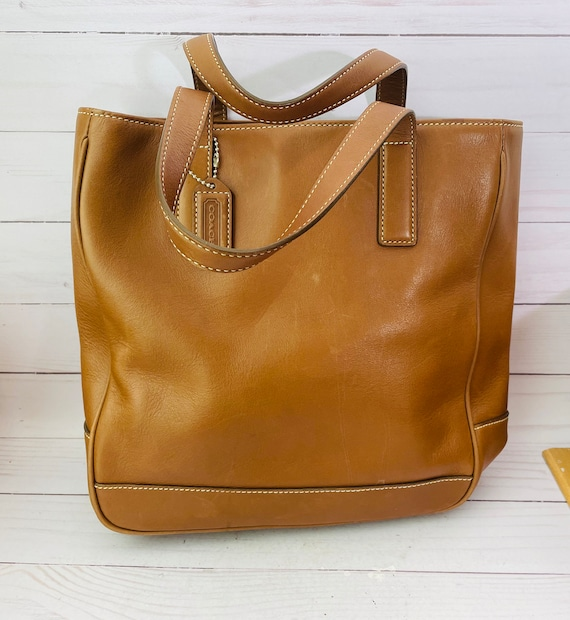 Brown Leather Tote, Vintage Coach