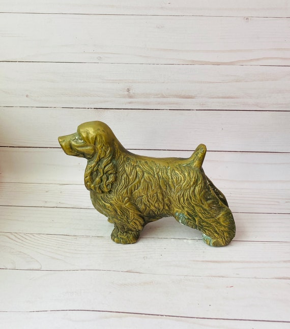 Vintage Brass Dog--Brass Cocker Spaniel--Brass Animal