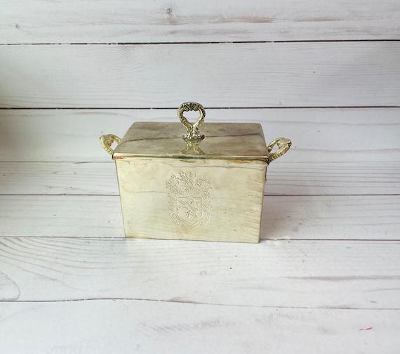 Silver Tea Caddy, Vintage International Silver Co.