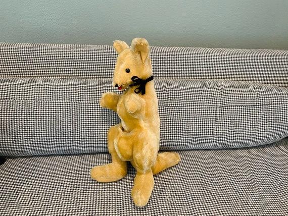 Vintage Mohair Kangaroo Plush Toy