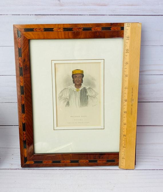 Antique Print Of Maleka Native Of Hawaiian Islands--Antique Portrait