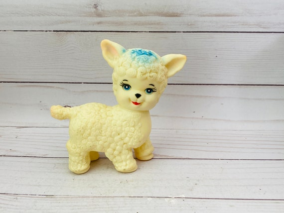 Vintage Stahlwood Plastic Sheep--Vintage Plastic Toy--Vintage Easter Decor