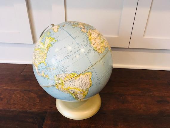 "Vintage 12"" Rand McNally Political World Globe Made In USA"