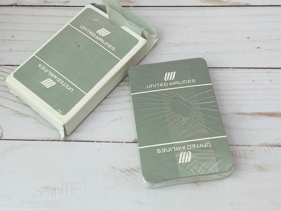 Vintage United Airlines Deck Of Cards--Airline Deck Of Cards