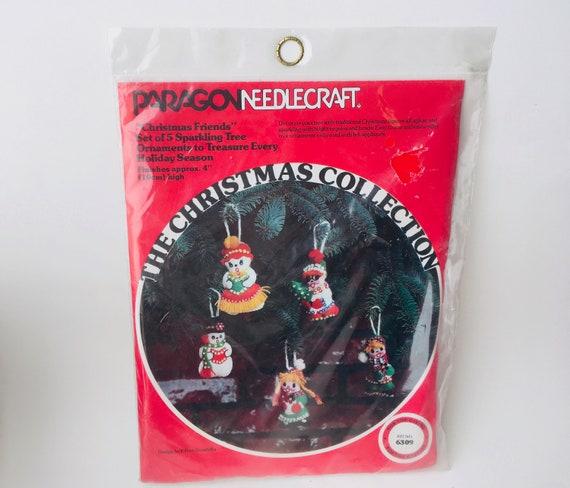 Vintage Paragon Needlecraft Christmas Ornaments Kit